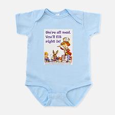 MAD HATTER RULES Infant Bodysuit