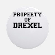 Property of DREXEL Round Ornament