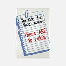 No Rules at Nona's House! Rectangle Magnet