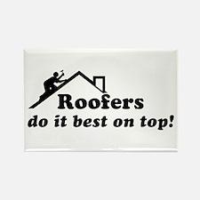 Roofer Rectangle Magnet