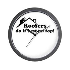 Roofer Wall Clock