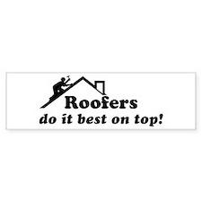 Roofer Bumper Car Sticker