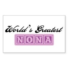 World's Greatest Nona Rectangle Decal