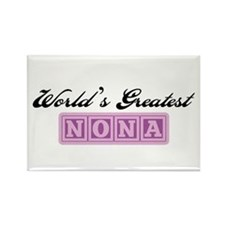 World's Greatest Nona Rectangle Magnet