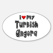 Turkish Angora Oval Decal