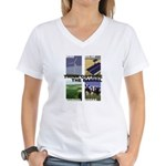 Think Outside the Barrel Women's V-Neck T-Shirt