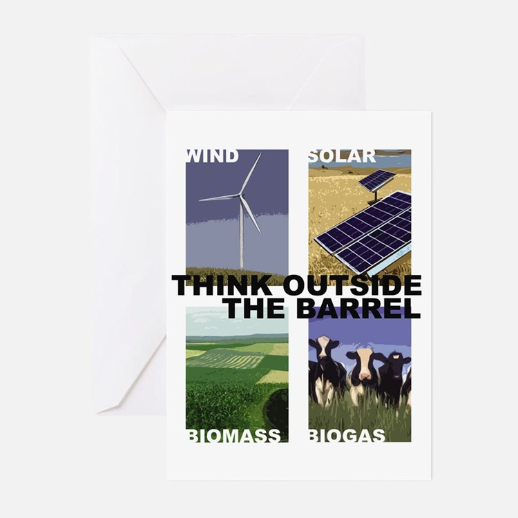 Think Outside the Barrel Greeting Cards (Pk of 10)