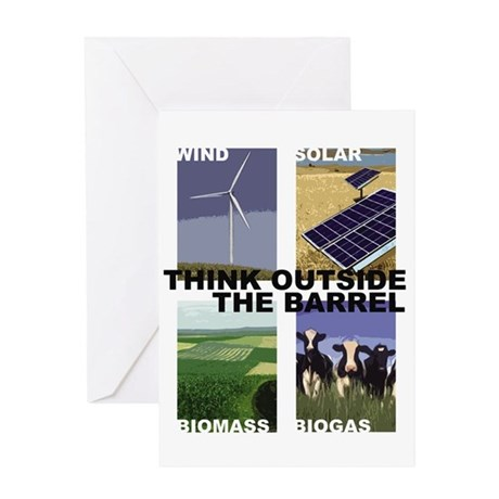 Think Outside the Barrel Greeting Card
