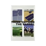 Think Outside the Barrel Rectangle Magnet (100 pac