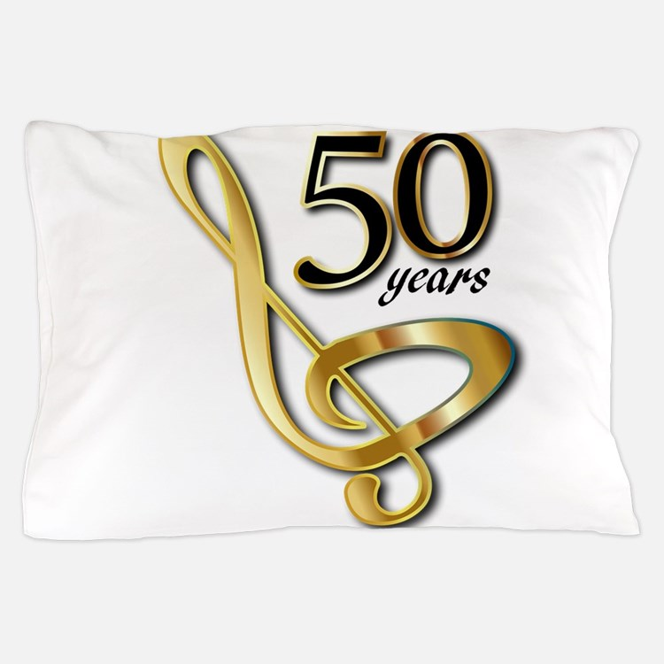 50 Years Golden Celebration Pillow Case