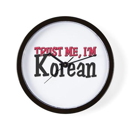 Trust Me I'm Korean Wall Clock