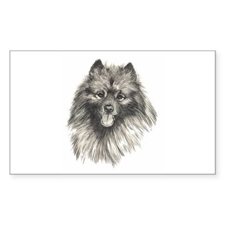 Keeshond Rectangle Sticker