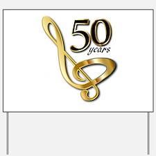 50 Years Golden Celebration Yard Sign