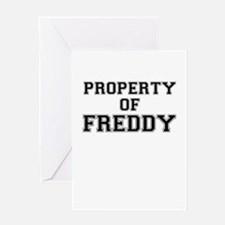 Property of FREDDY Greeting Cards