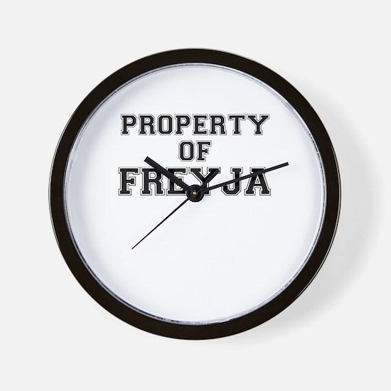 Property of FREYJA Wall Clock