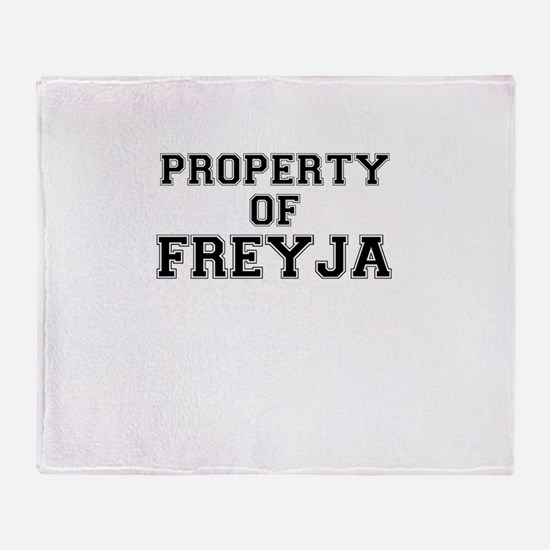 Property of FREYJA Throw Blanket
