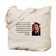 Ronald Reagan 9 Tote Bag