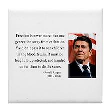 Ronald Reagan 9 Tile Coaster