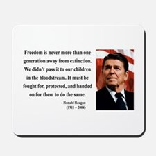Ronald Reagan 9 Mousepad