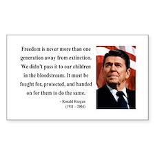Ronald Reagan 9 Rectangle Decal