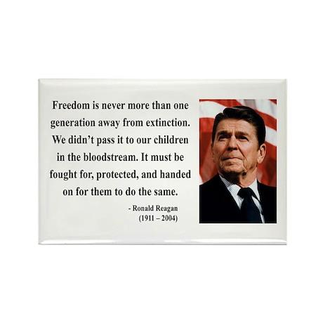 Ronald Reagan 9 Rectangle Magnet
