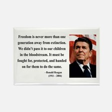 Ronald Reagan 9 Rectangle Magnet