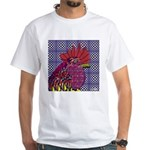 Psycho Rooster White T-Shirt