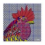 Psycho Rooster Tile Coaster