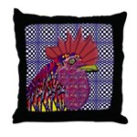 Psycho Rooster Throw Pillow