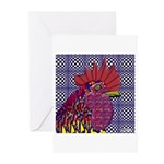 Psycho Rooster Greeting Cards (Pk of 10)