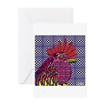 Psycho Rooster Greeting Card