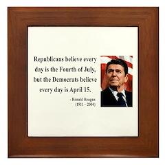 Ronald Reagan 10 Framed Tile
