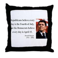 Ronald Reagan 10 Throw Pillow