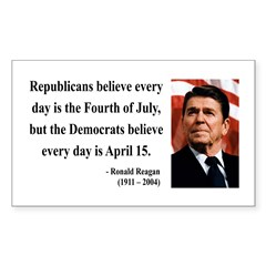 Ronald Reagan 10 Rectangle Decal