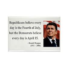 Ronald Reagan 10 Rectangle Magnet