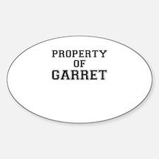 Property of GARRET Decal