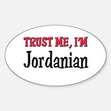 Trust Me I'm Jordanian Oval Decal