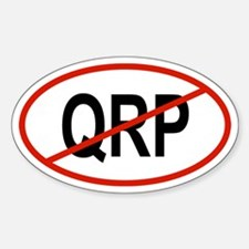 QRP Oval Decal