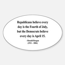 Ronald Reagan 10 Oval Decal