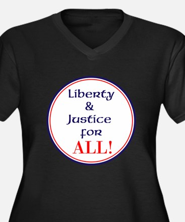 Liberty and justice for all Plus Size T-Shirt