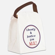 Liberty and justice for all Canvas Lunch Bag
