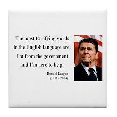 Ronald Reagan 11 Tile Coaster
