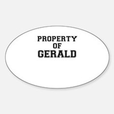 Property of GERALD Decal