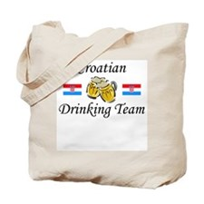 Croatian Drinking Team Tote Bag