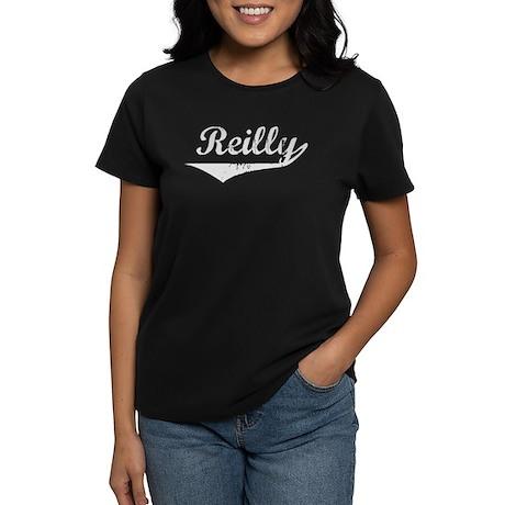 Reilly Vintage (Silver) Women's Dark T-Shirt