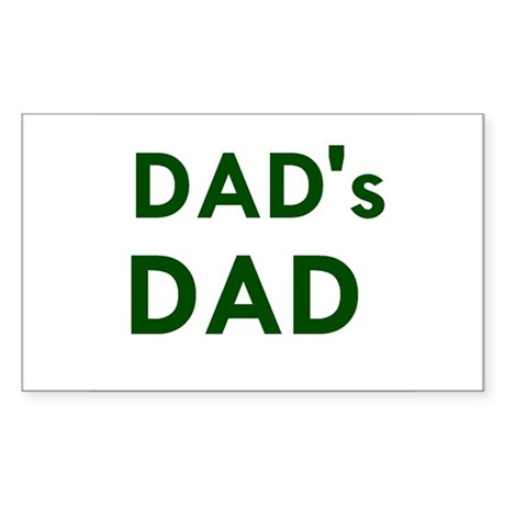 Dad's Dad Rectangle Sticker