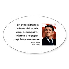 Ronald Reagan 13 Oval Decal