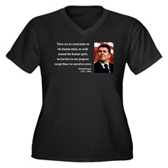 Ronald Reagan 13 Women's Plus Size V-Neck Dark T-S