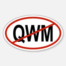 QWM Oval Decal