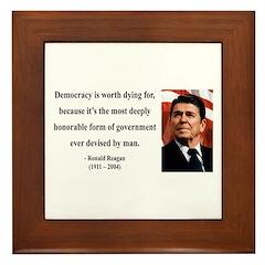 Ronald Reagan 15 Framed Tile